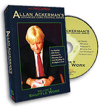 Advanced Card Control Series Vol 5: Shuffle Work by Allan Ackerman - DVD
