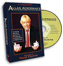 Advanced Card Control Series Vol 7: False Counts by Allan Ackerman - DVD