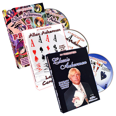 Alan Ackerman 3 Volume Set (Classic Ackerman, Las Vegas Card Miracles, Prequel/Sequel) - DVD