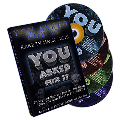 You Asked Fot It- Rare TV Magic Acts (4 DVD Set) - DVD