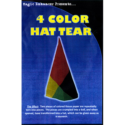 4 Color Hat Tear by Magic Enhancer - Trick