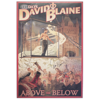 Above The Below Autographed Poster (Limited Edition) by David Blaine - Trick