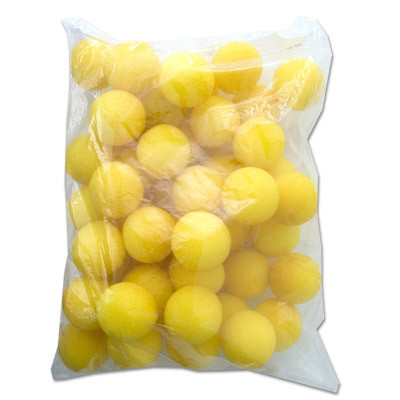 "1.5"" 50 Super Soft Sponge Balls (Yellow) - Trick"
