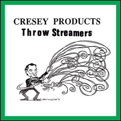 Throw Streamers (GREEN) by Cresey - Trick